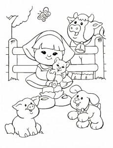 målarbok Little People (3)
