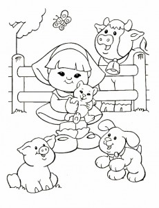 kleurplaat Little People (3)