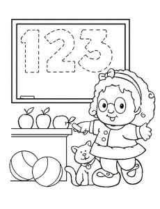 kleurplaat Little People (4)