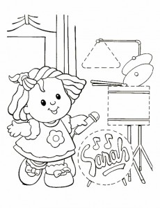 kleurplaat Little People (5)