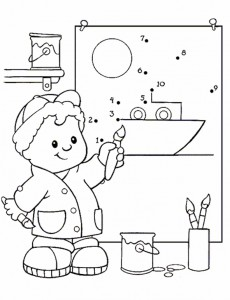 coloring page Little People (6)