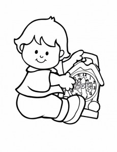 coloring page Little People