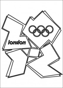 kleurplaat logo london 2012