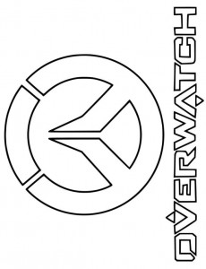 Coloring logo overwatch