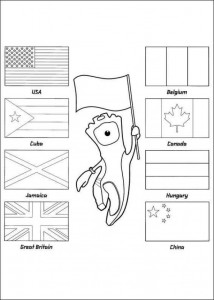 coloring page london 2012