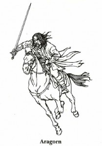 Malvorlage Herr der Ringe, Aragorn
