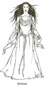 målarbok Lord of the Rings, Arwen