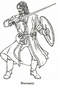 Malvorlage Herr der Ringe, Boromir