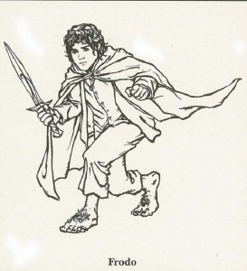 Malvorlage Herr der Ringe, Frodo