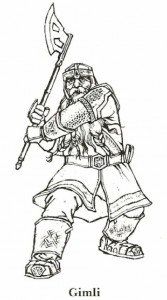 målarbok Lord of the Rings, Gimli