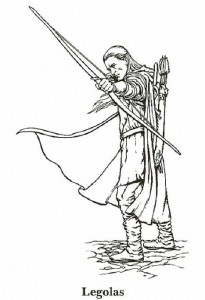 målarbok Lord of the Rings, Legolas
