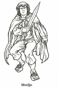 målarbok Lord of the Rings, Merijn