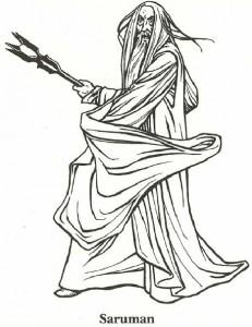 coloring page Ringenes herre, Saruman