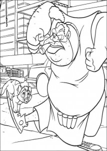 coloring page Louie the hot dog seller (1)