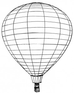 kleurplaat Luchtballonnen (4)