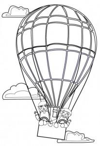 målarbok Ballonger