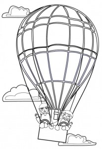 kleurplaat Luchtballonnen