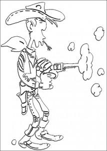 Malvorlage Lucky Luke (2)