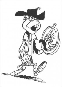 Malvorlage Lucky Luke (9)