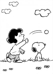 coloriage lucy snoopy