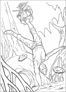 coloring page Luke Skywalker (2)