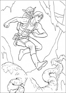 coloring page Luke Skywalker (3)