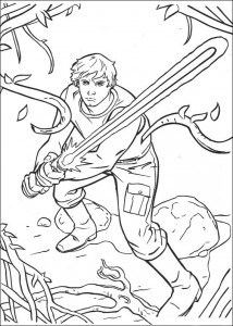 coloring page Luke Skywalker (4)