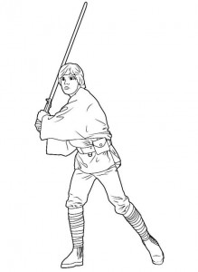 pagina da colorare luke skywalker (5)