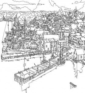 coloring page lunenburg