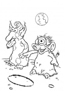 kleurplaat Maan muppets