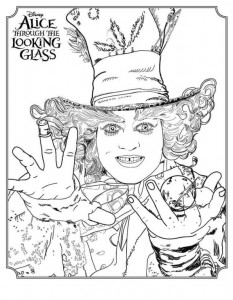 coloring page Mad Hatter