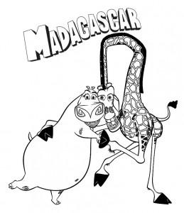 kleurplaat Madagascar (1)