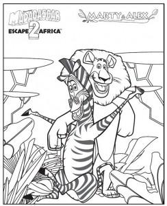 kleurplaat Madagascar 2 (16)
