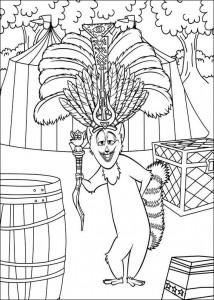 kleurplaat Madagascar 3 (2)