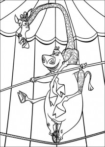 coloring page Madagascar 3 (3)