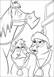 coloring page Maggie and Mrs. Caloway