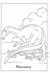 kleurplaat Maiasaurus