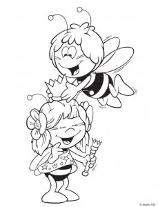 coloring page Maja the Bee (1)