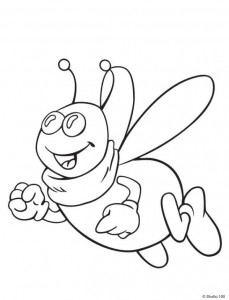 coloring page Maja the Bee (16)