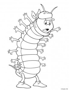 coloring page Maja the Bee (17)