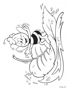 coloring page Maja the Bee (3)