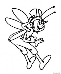coloring page Maja the Bee (43)