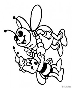 coloring page Maja the Bee (50)