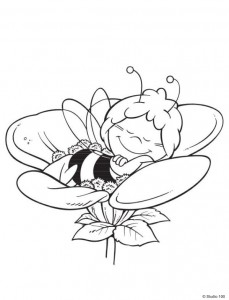 coloring page Maja the Bee (7)