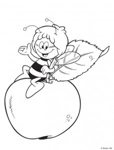 coloring page Maja the Bee (8)