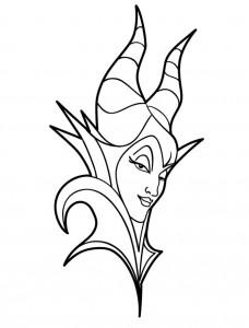 kleurplaat Maleficent (10)
