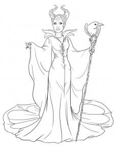 kleurplaat Maleficent (2)