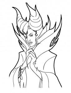 kleurplaat Maleficent (3)