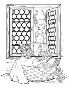 målarbok Maleficent (4)