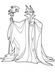 kleurplaat Maleficent (6)